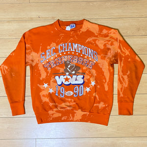 Vintage 1990 University of Tennessee Vols Football SEC Champions Tie-Dye Crew - M