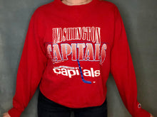 Load image into Gallery viewer, Vintage 1992 Washington Capitals Old Logo Crew - M