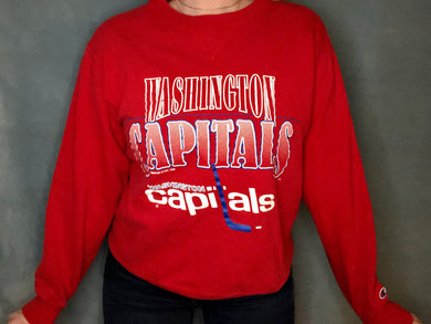 Vintage 1992 Washington Capitals Old Logo Crew - M