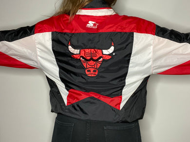 Vintage 90s Chicago Bulls STARTER Jacket Windbreaker - L