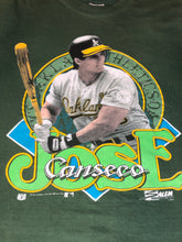 Load image into Gallery viewer, Vintage 1990 Oakland A's Athletics Jose Canseco TSHIRT - S