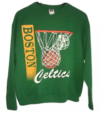 Vintage 1991 Boston Celtics Logo 7 Crew - M