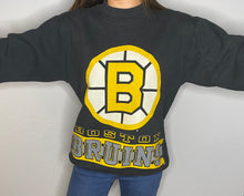 Load image into Gallery viewer, Vintage 1990s Boston Bruins Double-Sided Crew - Youth XL / Adult XS / S