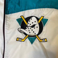 Load image into Gallery viewer, Vintage 1990s Mighty Ducks of Anaheim Full Zip Windbreaker from Apex One - XL