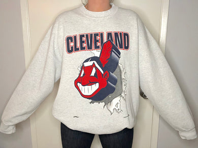 Cleveland Indians Double-Sided Crew - XXL - Rad Max Vintage