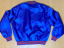 Load image into Gallery viewer, Vintage New England Patriots Old Logo Satin Bomber Jacket from Swingster - XL