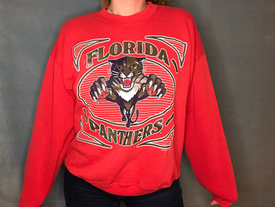 Vintage Florida Panthers Inaugural Season Crew - L