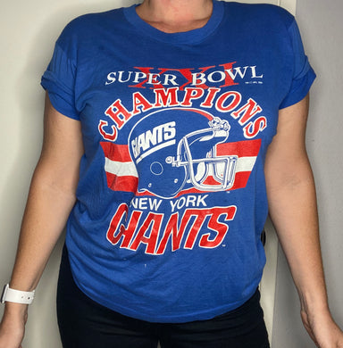 Vintage 1987 New York Giants Super Bowl XXIV TSHIRT - M
