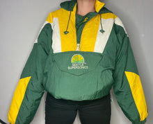 Load image into Gallery viewer, Vintage Seattle SuperSonics OLD LOGO STARTER Pullover Anorak Jacket - XL