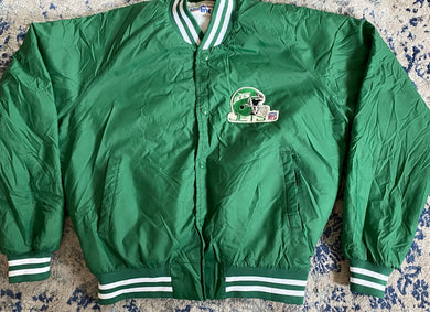 Vintage New York Jets Chalk Line Bomber Jacket - L