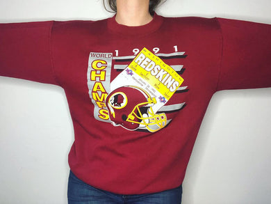 1991 Washington Redskins Crew - M/L - Rad Max Vintage
