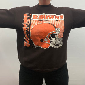 Vintage 1991 Cleveland Browns Crew from Logo 7 - L