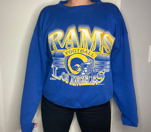 Vintage 1994 Los Angeles Rams Crew - L