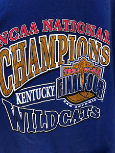 1998 University of Kentucky Wildcats Basketball Final Four Champions TSHIRT - XL
