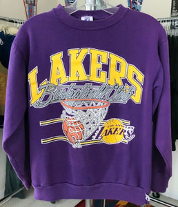 Vintage late 80s-early 90s Los Angeles LA Lakers Crew - S