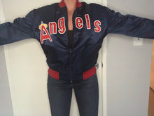 Load image into Gallery viewer, Vintage Anaheim Angels Double-Sided Satin Bomber SPELL OUT - M