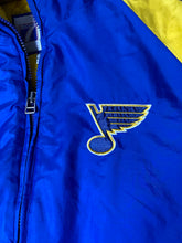 Load image into Gallery viewer, Vintage 1990s St Louis Blues Logo 7 Full Zip Puffer Jacket with Hood - XL/XXL
