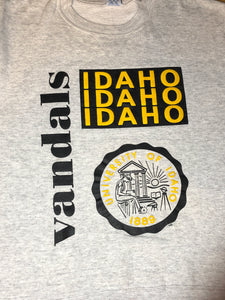 Vintage University of Idaho Vandals Crew - M