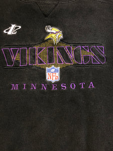 Vintage 90s Minnesota Vikings Logo Athletic Crew - XL