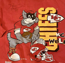 Load image into Gallery viewer, Vintage 1993 Kansas City Chiefs KC Wolf Crew with Autograph - XL
