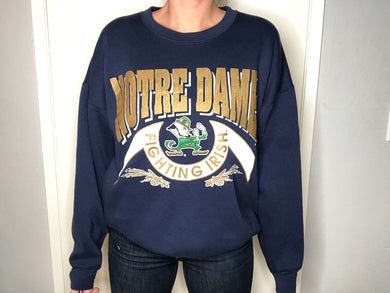 Notre Dame Fighting Irish Crew - L - Rad Max Vintage