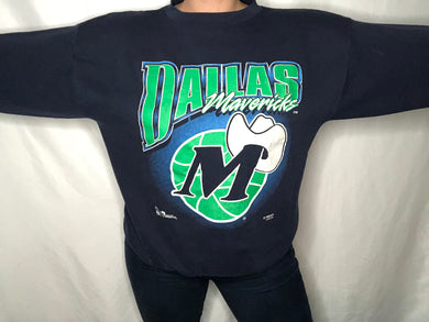 Vintage Dallas Mavericks Old Logo Crewneck - M