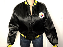 Load image into Gallery viewer, Pittsburgh Steelers Chalk Line Bomber - L - Rad Max Vintage