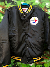 Load image into Gallery viewer, Vintage Pittsburgh Steelers Locker Line Satin Bomber Jacket - L