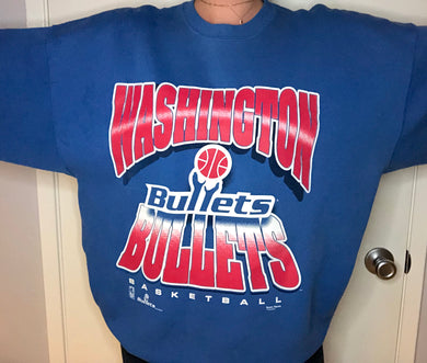 Vintage 1990s Washington Bullets Crew - XXL