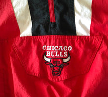 Load image into Gallery viewer, Vintage 90s Chicago Bulls STARTER Windbreaker 1/4 Zip Pullover - S / M