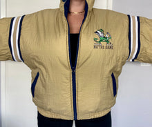 Load image into Gallery viewer, Vintage University of Notre Dame Fighting Irish Reversible Full Zip Puffer Jacket from Pro Player - XL
