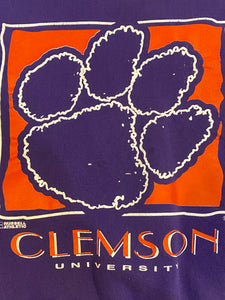 Vintage Clemson University Tigers Purple Crew - S
