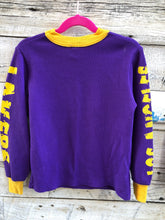 Load image into Gallery viewer, Vintage 90s Los Angeles LA Lakers Kids Thermal Long Sleeve Shirt - Child Small
