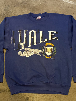 Vintage 90s Yale University Bulldogs Crew - L / XL