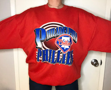 Vintage 1993 Philadelphia Phillies NWOT Old Logo Crew - XL