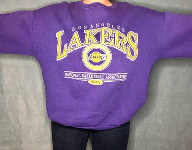 Vintage Los Angeles Lakers Western Conference Crew - XL