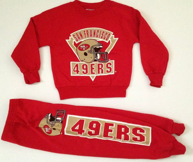 Vintage 1980s San Francisco 49ers CHILD size 4 outfit! - Child Small / 4