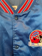 Load image into Gallery viewer, Vintage Buffalo Bills Chalk Line Satin Bomber Jacket - XL