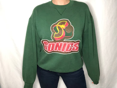 Vintage 90s Seattle SuperSonics Russell Athletic Crew - L