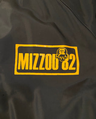 Vintage 1982 University of Missouri MIZZOU Satin Bomber Jacket from Russell Athletic - L