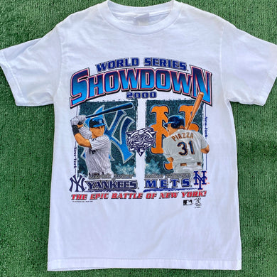 Vintage 2000 New York NY Yankees v Mets Subway Series TSHIRT - Youth XL / Adult XS