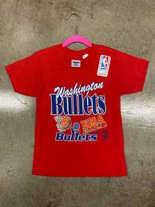 Vintage 1991 Washington Bullets Deadstock Kids TSHIRT - Youth Small 6-8