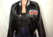 Load image into Gallery viewer, Vintage San Antonio Spurs Old Logo Chalk Line Satin Bomber Jacket - M