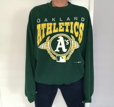 Vintage 1993 Oakland A's Athletics Crewneck - XL
