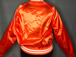 Vintage 1990s Tampa Bay Buccaneers Orange Old Logo Satin Bomber - XL