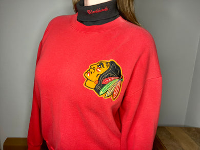 Vintage 1990s Chicago Blackhawks Turtleneck - L