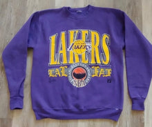 Load image into Gallery viewer, Vintage Early 1990s Los Angeles Lakers Crew from Logo 7 - M