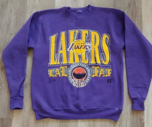 Vintage Early 1990s Los Angeles Lakers Crew from Logo 7 - M