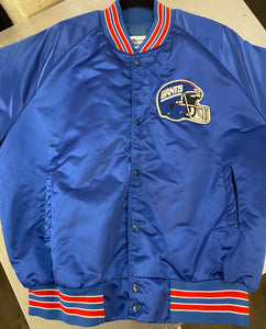 Vintage New York Giants Chalk Line Satin Bomber Jacket SPELL OUT - L