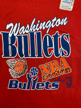 Load image into Gallery viewer, Vintage 1991 Washington Bullets Deadstock Kids TSHIRT - Youth Small 6-8